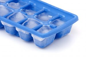 Pack of ice cubes to help releive calf pain